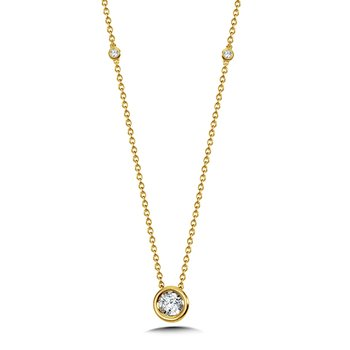Bezeled Diamond Star Solitaire Pendant