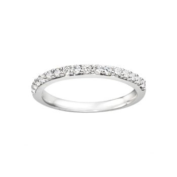 Round Cut Classic Diamond Matching Wedding Band
