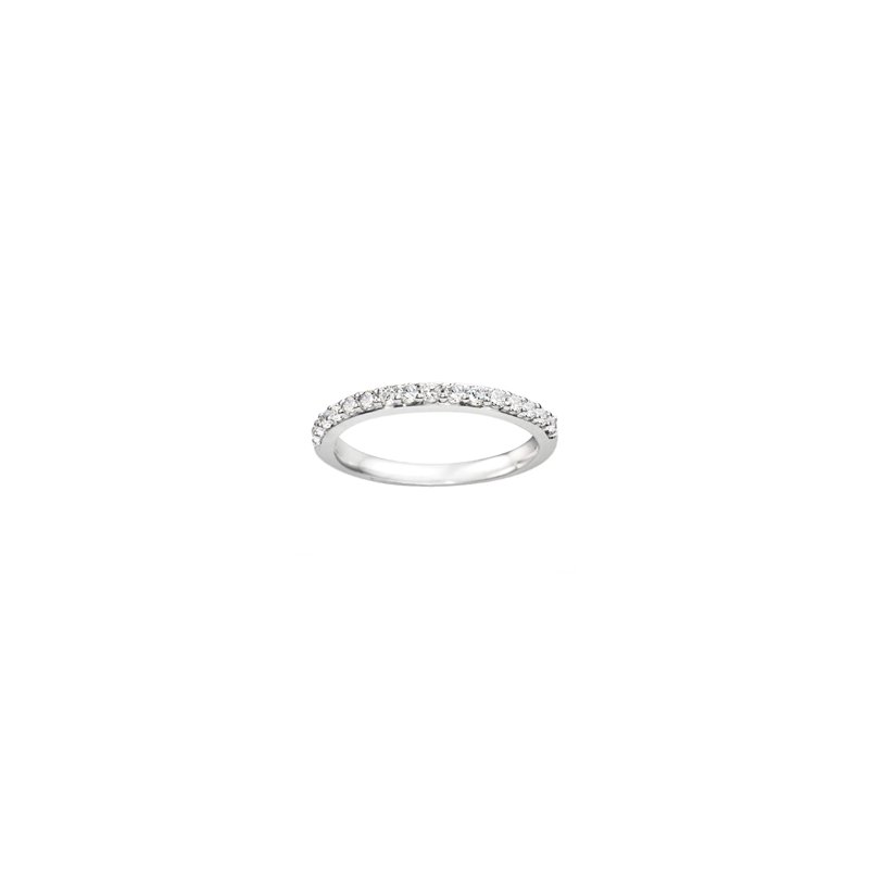 True Romance Round Cut Classic Diamond Matching Wedding Band