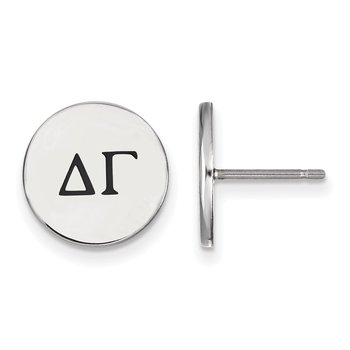 Sterling Silver Delta Gamma Greek Life Earrings