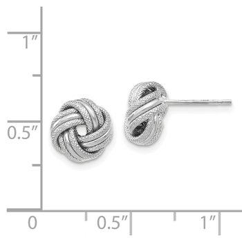 Leslie's 14K White Gold Knot Polished D/C Post Earrings