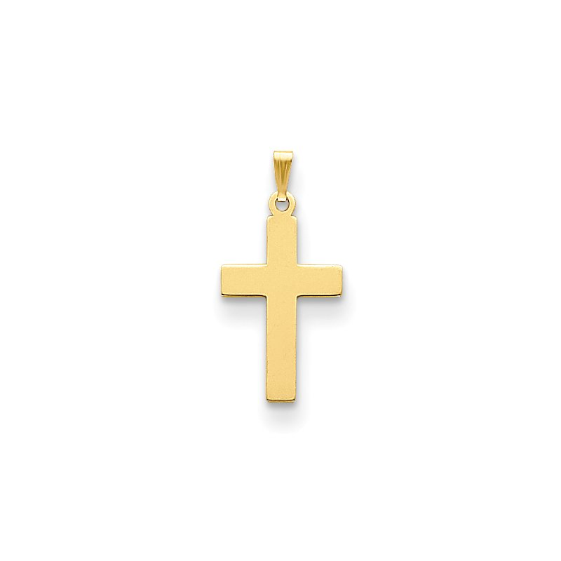 Quality Gold 14K Polished Cross Charm