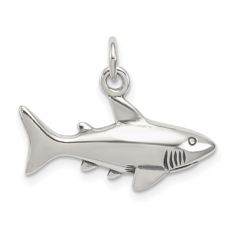 Quality Gold Sterling Silver Antique Shark Charm