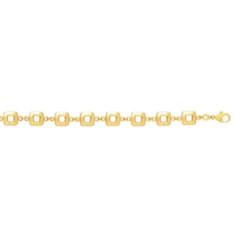 Royal Chain 14K Gold Polished Square Cube Link Chain