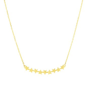 14K Gold Star Bar Necklace