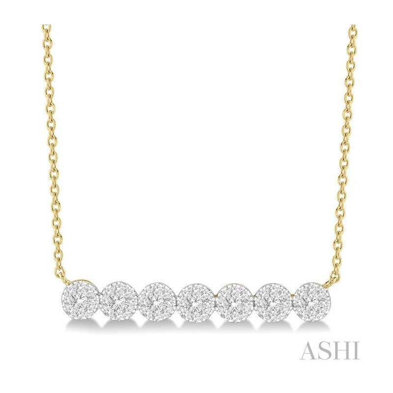 ASHI lovebright essential diamond bar necklace