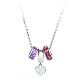 316L stainless steel, enamel and crystals Swarovski® Elements