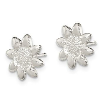 Sterling Silver Flower Mini Earrings