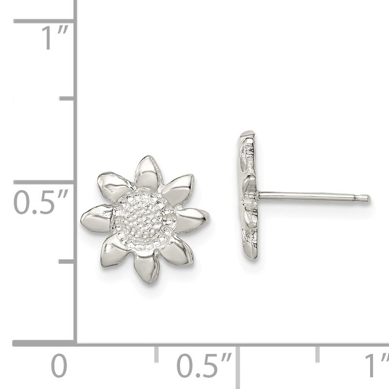 Quality Gold Sterling Silver Flower Mini Earrings