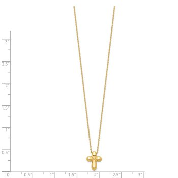 14k 16in Hollow Cross Necklace