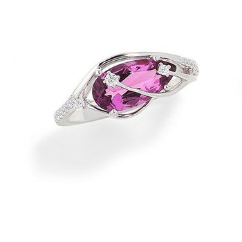 Pink Sapphire Ring-CR9803WPS