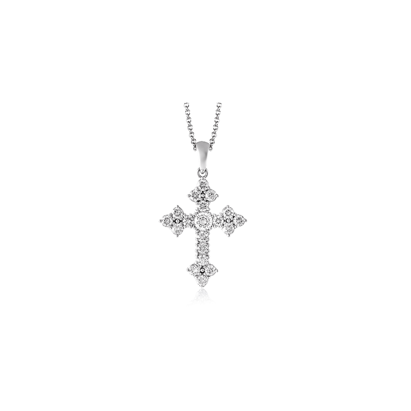 Simon G PP115 CROSS PENDANT