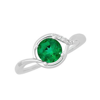 Emerald Ring-CR11775WEM