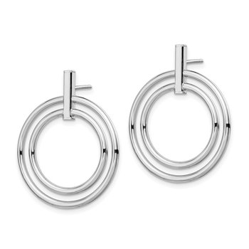 14K White Gold Post Earrings