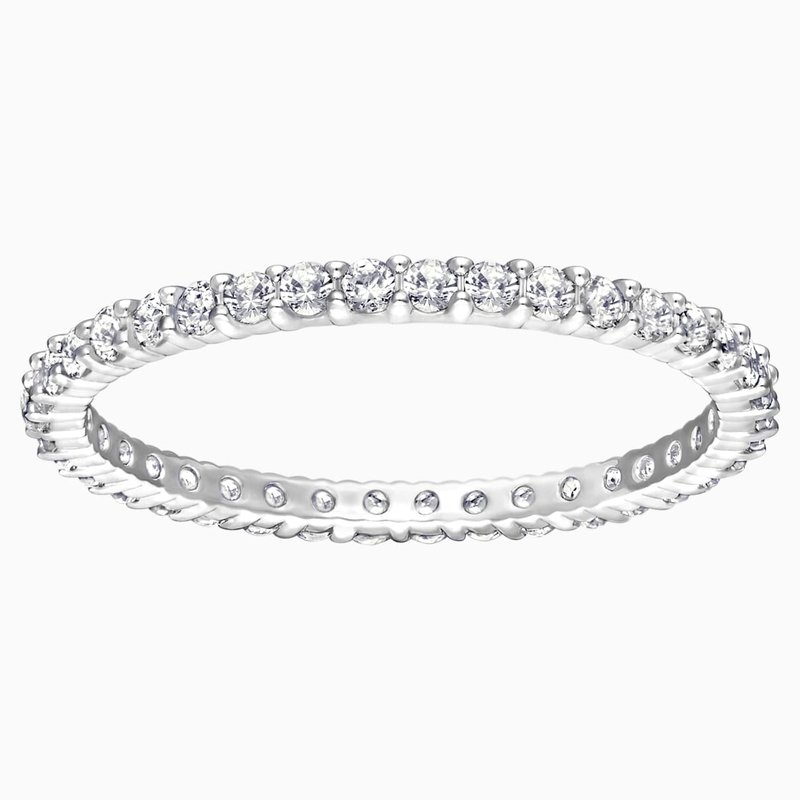 Swarovski Vittore Ring, White, Rhodium Plating