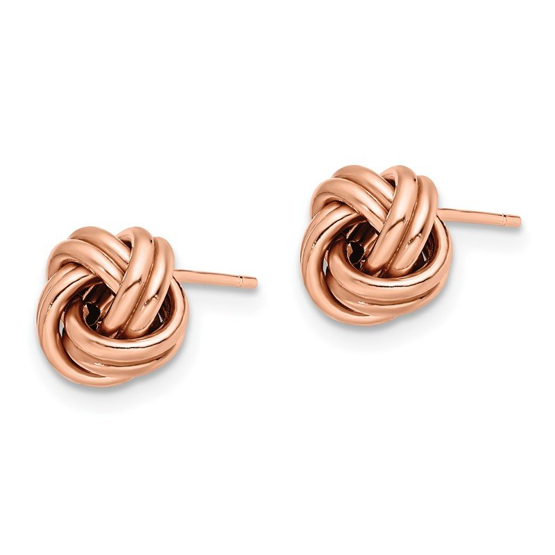 Leslie's Leslie's 14K Rose Gold Polished Love Knot Post Earrings