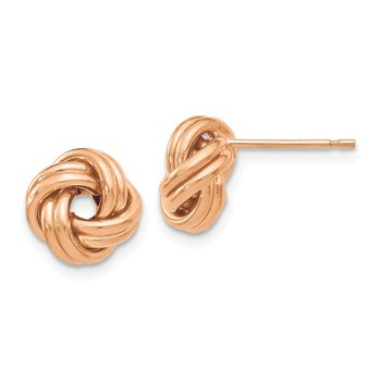 Leslie's 14K Rose Gold Polished Love Knot Post Earrings