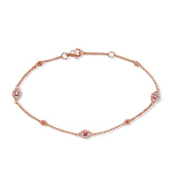 Ruby Gold Ruby & Diamond Bracelet
