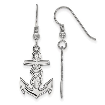 Sterling Silver Alpha Sigma Tau Greek Life Earrings