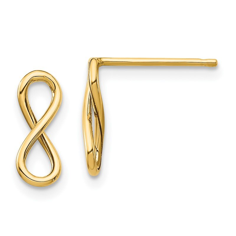 Quality Gold 14K Polished Infinity Post Earrings