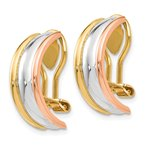 Fine Jewelry by JBD 14k TRI COLOR NON-PIERCED EARRINGS