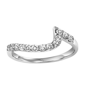 14K Diamond Matching Band 3/8 ctw to match 2 ctw Ring