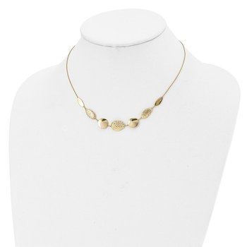 Leslie's 14k Polished Diamond-cut with 2in ext. Necklace