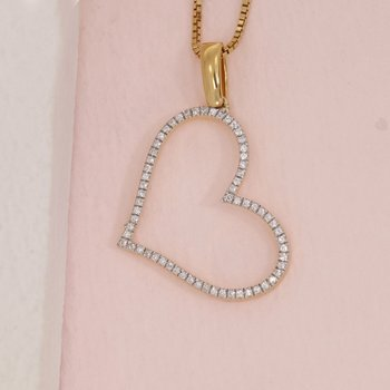 Genuine Heart Gold Necklace