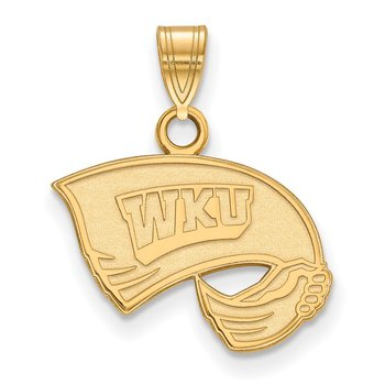 Gold Western Kentucky University NCAA Pendant