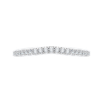 Carizza Round Diamond Wedding Band with Euro Shank In 14K White Gold