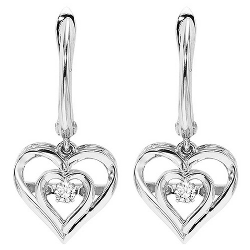 Necker's Signature Collection Silver Rhythm Of Love Earrings