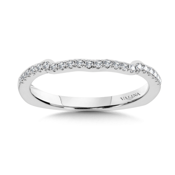 Diamond and 14K White Gold Wedding Ring (0.14 ct. tw.)