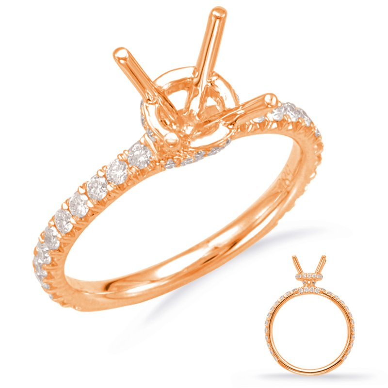 S. Kashi & Sons Bridal Rose Gold Engagement Ring