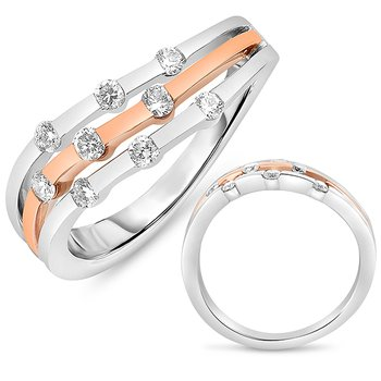 White & Rose Gold Ring