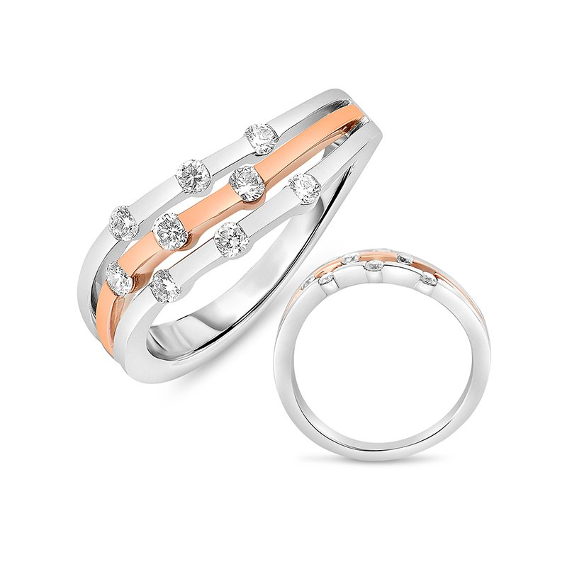 S. Kashi  & Sons White & Rose Gold Ring