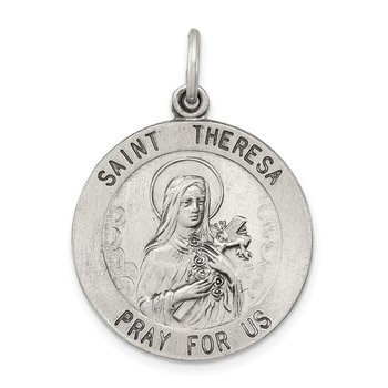 Sterling Silver St. Theresa Medal