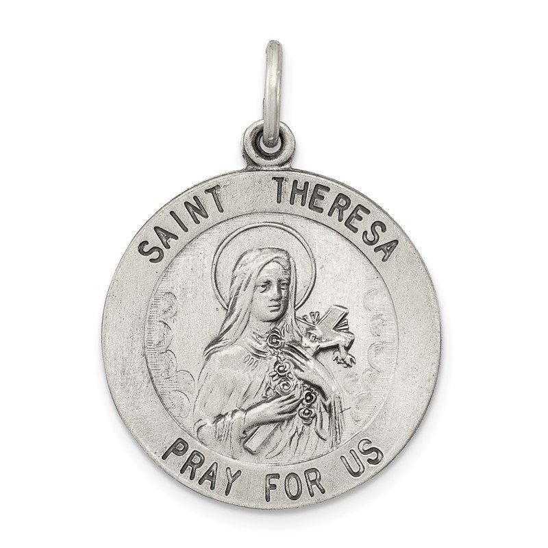 JC Sipe Essentials Sterling Silver St. Theresa Medal