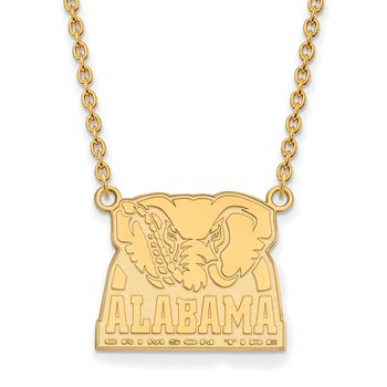 Gold University of Alabama NCAA Necklace