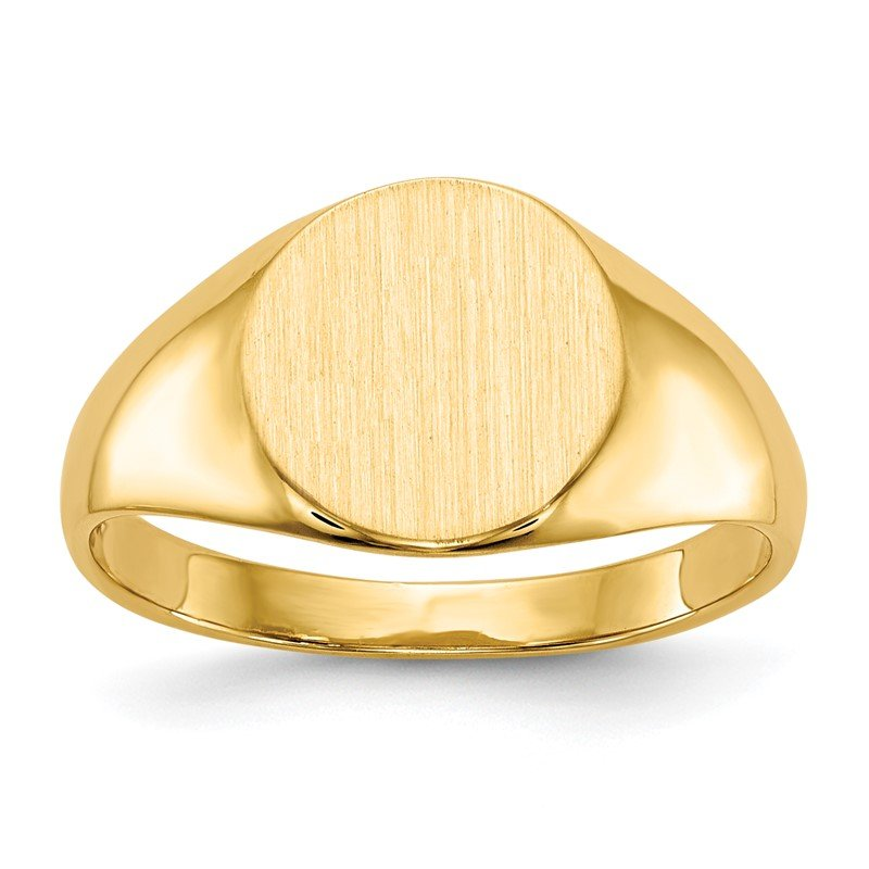 Quality Gold 14k 8.5x9.5mm Closed Back Signet Ring