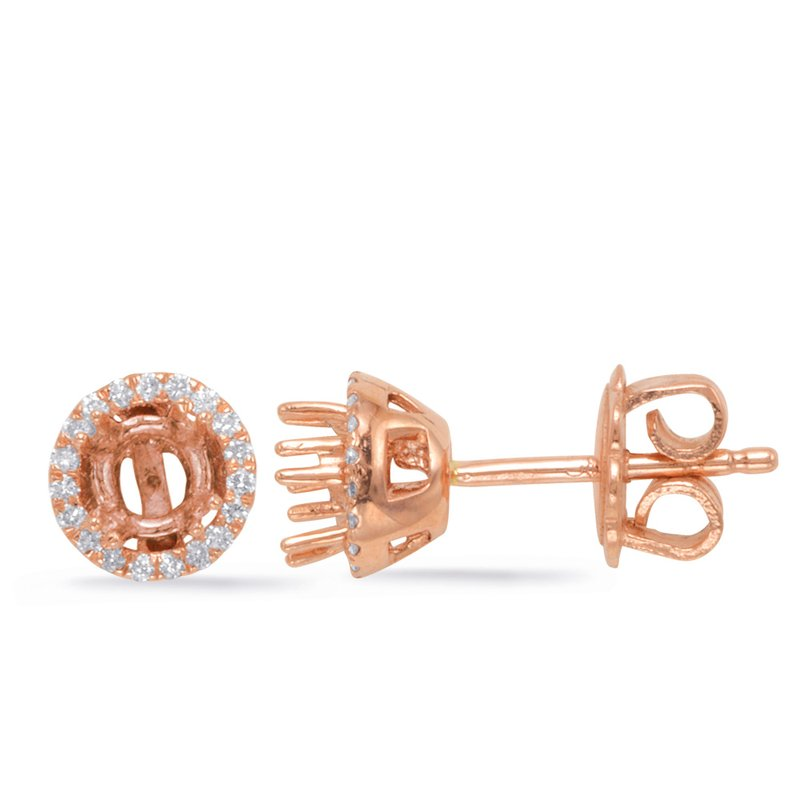 Briana Four Prong Earring Setting for 70 Pts TW