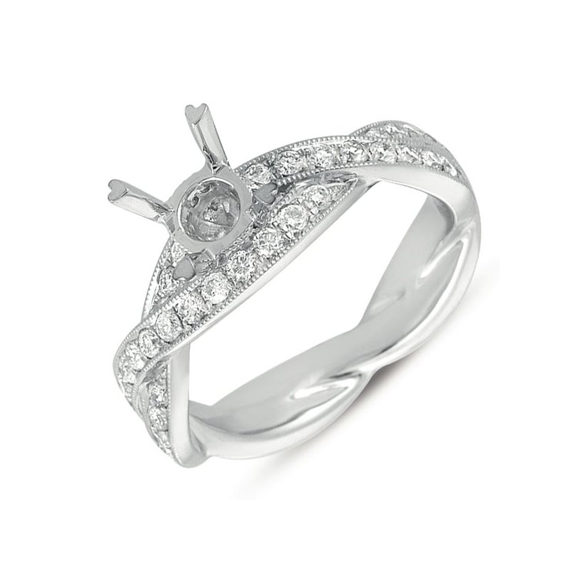 S. Kashi  & Sons Platinum Pave Engagement Ring