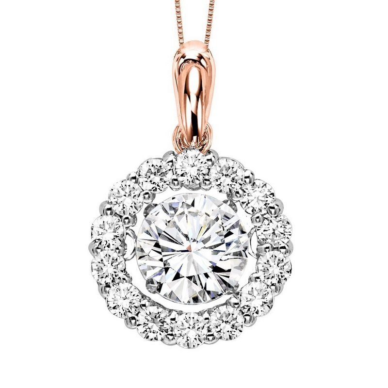 Rhythm of Love 14K Diamond Rhythm Of Love Pendant 3/4 ctw (1/2 ct Center)