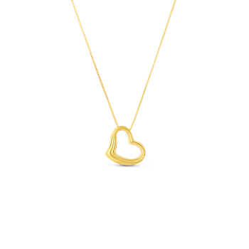 Small Slanted Heart Pendant &Ndash; 18K Yellow Gold