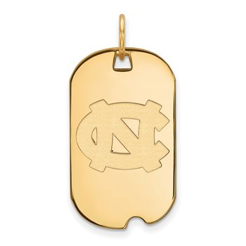 Gold University of North Carolina NCAA Pendant