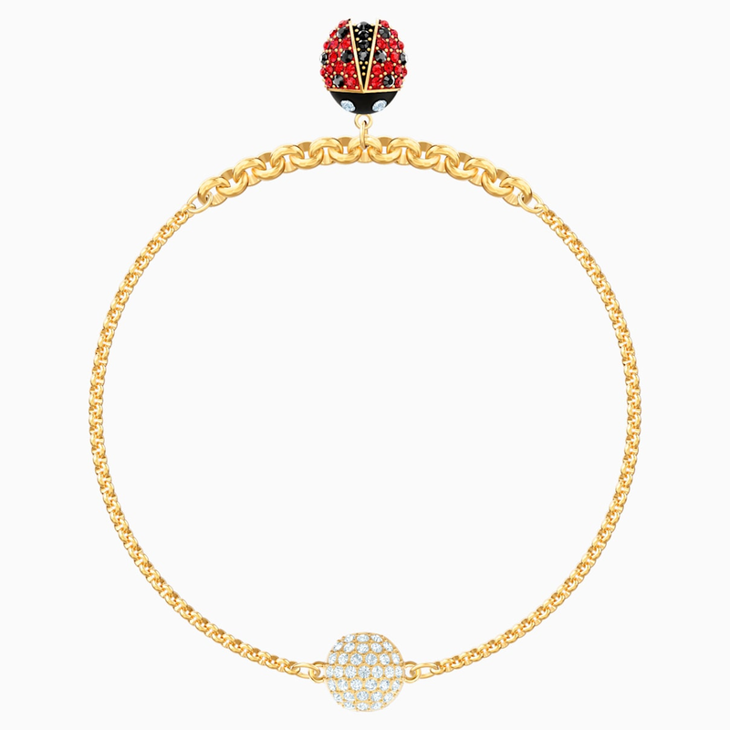 Swarovski Swarovski Remix Collection Ladybug Strand, Multi-colored, Gold-tone plated