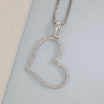 Genuine Heart Sterling Silver Necklace