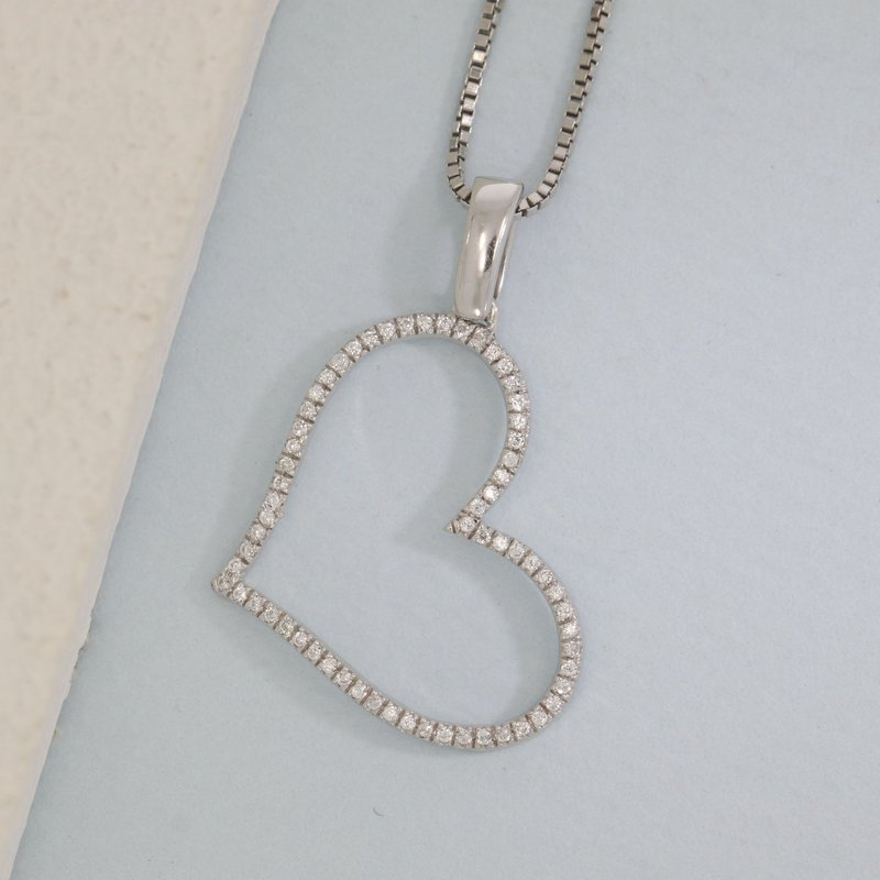 Ella Stein Genuine Heart Sterling Silver Necklace