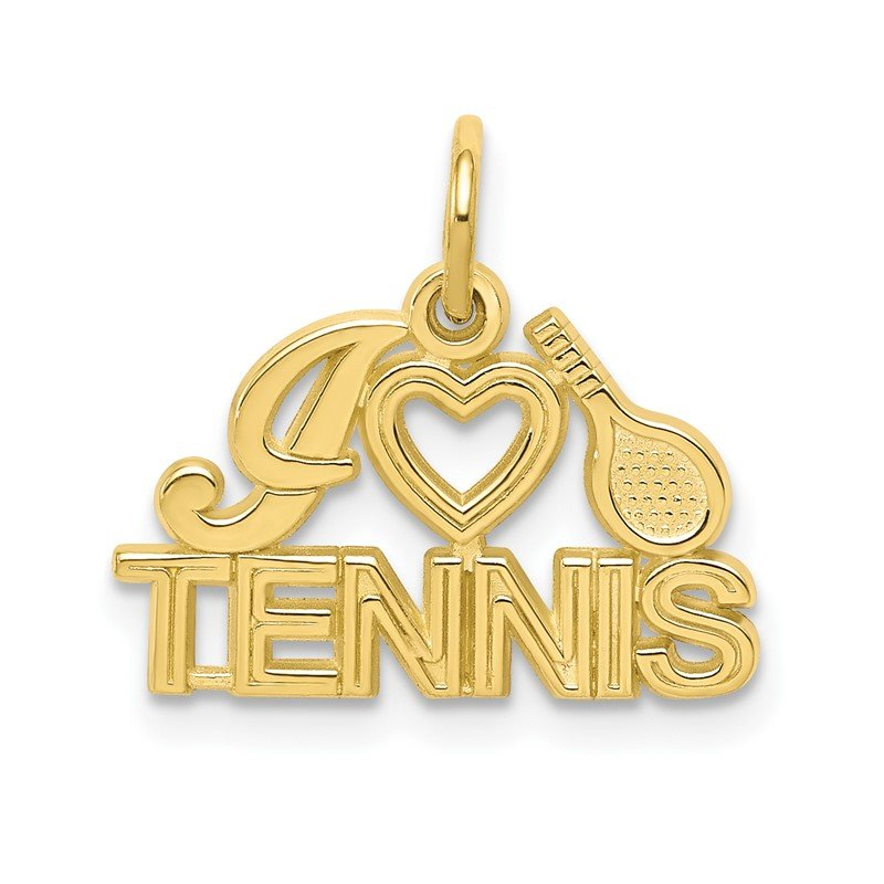 Quality Gold 10K I HEART TENNIS Charm