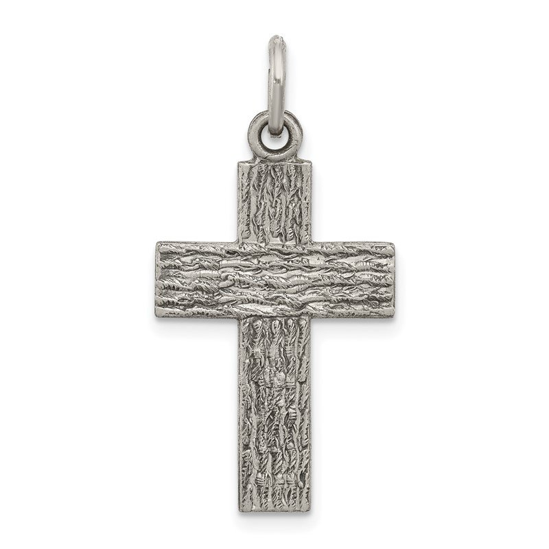 J.F. Kruse Signature Collection Sterling Silver Antiqued Cross Charm