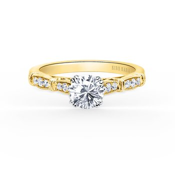 Classic Milgrain Diamond Engagement Ring